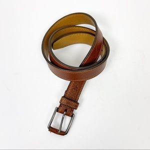 TRASK Men's Brown Leather Belt